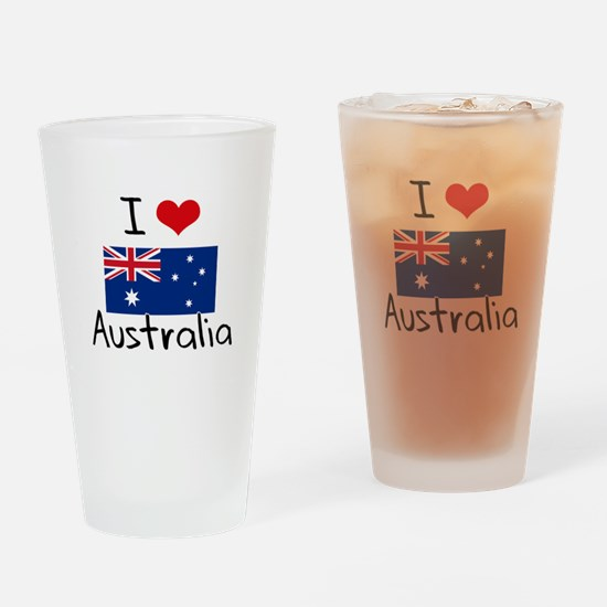 I HEART AUSTRALIA FLAG Drinking Glass