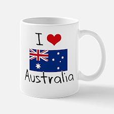I HEART AUSTRALIA FLAG Mug