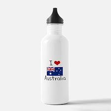 I HEART AUSTRALIA FLAG Water Bottle