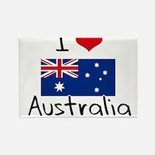 I HEART AUSTRALIA FLAG Rectangle Magnet