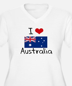 I HEART AUSTRALIA FLAG Plus Size T-Shirt