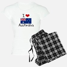 I HEART AUSTRALIA FLAG Pajamas