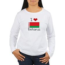 I HEART BELARUS FLAG Long Sleeve T-Shirt