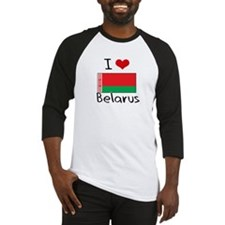 I HEART BELARUS FLAG Baseball Jersey