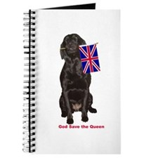 lab with British flag Journal