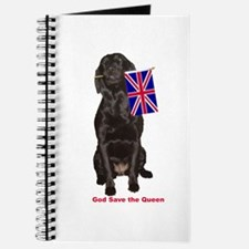 lab with British flag Journal