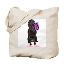 lab with British flag Tote Bag