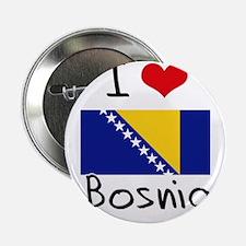 "I HEART BOSNIA FLAG 2.25"" Button"