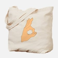 Hand OK Sign Tote Bag