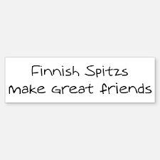 Finnish Spitzs make friends Bumper Bumper Bumper Sticker