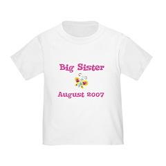 Big Sister August 2007 Toddler Tee