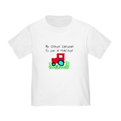 My Other Carseat is On a Tractor Toddler Tee