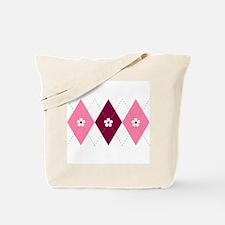 Flower Argyle Tote Bag