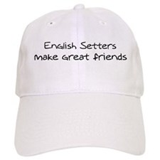 English Setters make friends Baseball Cap
