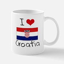 I HEART CROATIA FLAG Mug