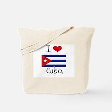 I HEART CUBA FLAG Tote Bag