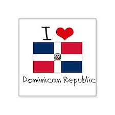 I HEART DOMINICAN REPUBLIC FLAG Sticker