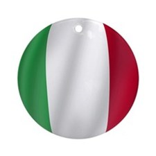 Pure Flag of Italy Ornament (Round)