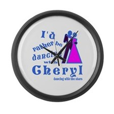 Dancing With Cheryl Large Wall Clock