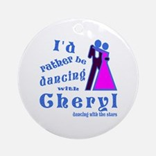 Dancing With Cheryl Ornament (Round)