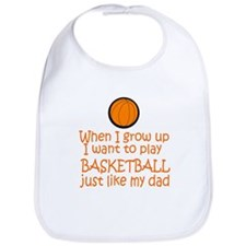 Basketball...just like DAD Bib