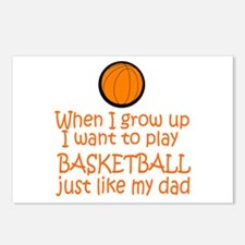 Basketball...just like DAD Postcards (Package of 8