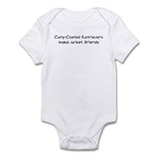 Curly-Coated Retrievers make  Infant Bodysuit