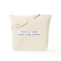 Coton de Tulears make friends Tote Bag