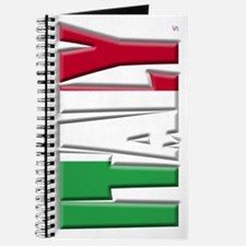 Word Art Flag Italy Journal