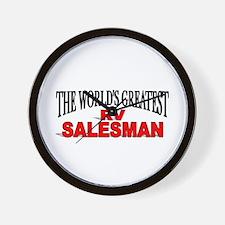 """The World's Greatest RV Salesman"" Wall Clock"