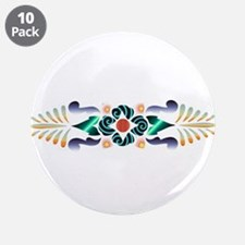 """Floral Delight 3.5"""" Button (10 pack)"""