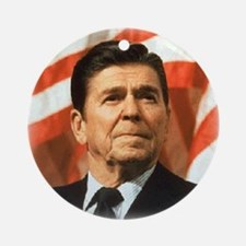 Ronald Reagan: Image only Ornament (Round)
