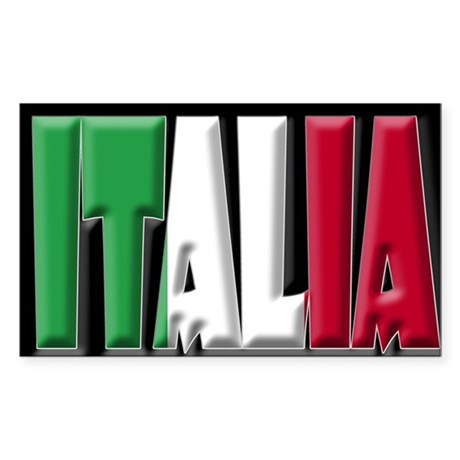 Word Art Italia Rectangle Sticker