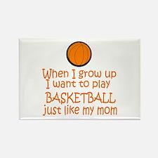 Basketball...just like MOM Rectangle Magnet