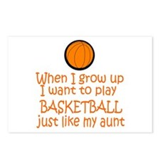 Basketball...just like AUNT Postcards (Package of