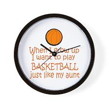 Basketball...just like AUNT Wall Clock