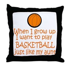 Basketball...just like AUNT Throw Pillow