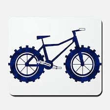 black and blue bike Mousepad