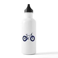 black and blue bike Water Bottle