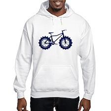 black and blue bike Hoodie