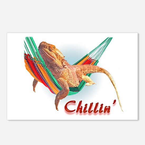 Bearded Dragon Chillin Postcards (Package of 8)