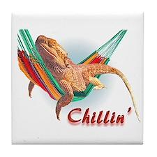 Bearded Dragon Chillin Tile Coaster
