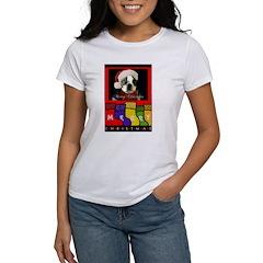 MERRY CHRISTMAS BOSTON TERRIER LOOK Women's T-Shir