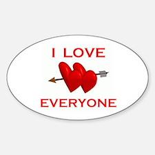 LOVE EVERYONE Oval Decal