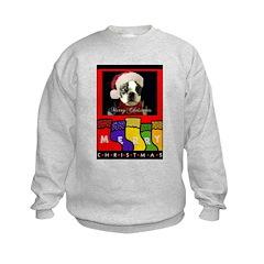 MERRY CHRISTMAS BOSTON TERRIER LOOK Sweatshirt