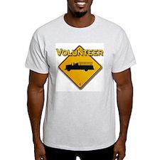 Volunteer Firefighter Ash Grey T-Shirt