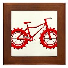 Fatbike Red Framed Tile