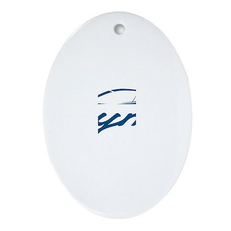 Cobalt Blue Web Logo Oval Ornament