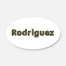 Rodriguez Army Oval Car Magnet