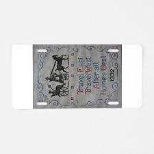 TRAVEL EAST Aluminum License Plate
